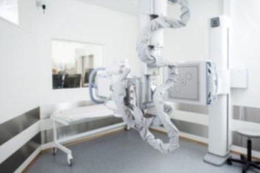 Xray Machine In Hospital Background Blur