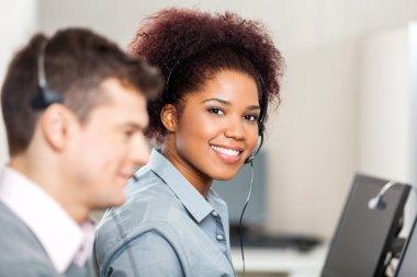 Customer Service Representative Working In Office