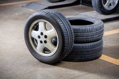 Tires At Repair Shop