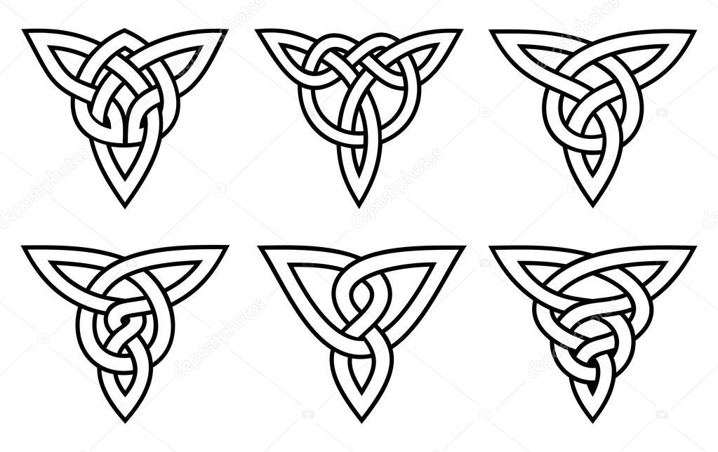 conjunto nudo celta — Vector de stock © olga4075 #109703332