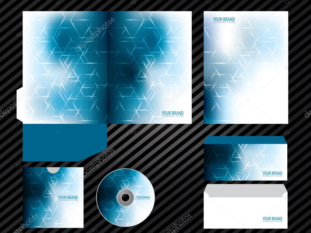 Unternehmensidentität Vorlage Business Design Blau set Briefpapier ...