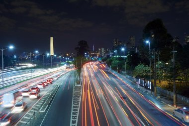 Sao Paulo city at night, Brazil