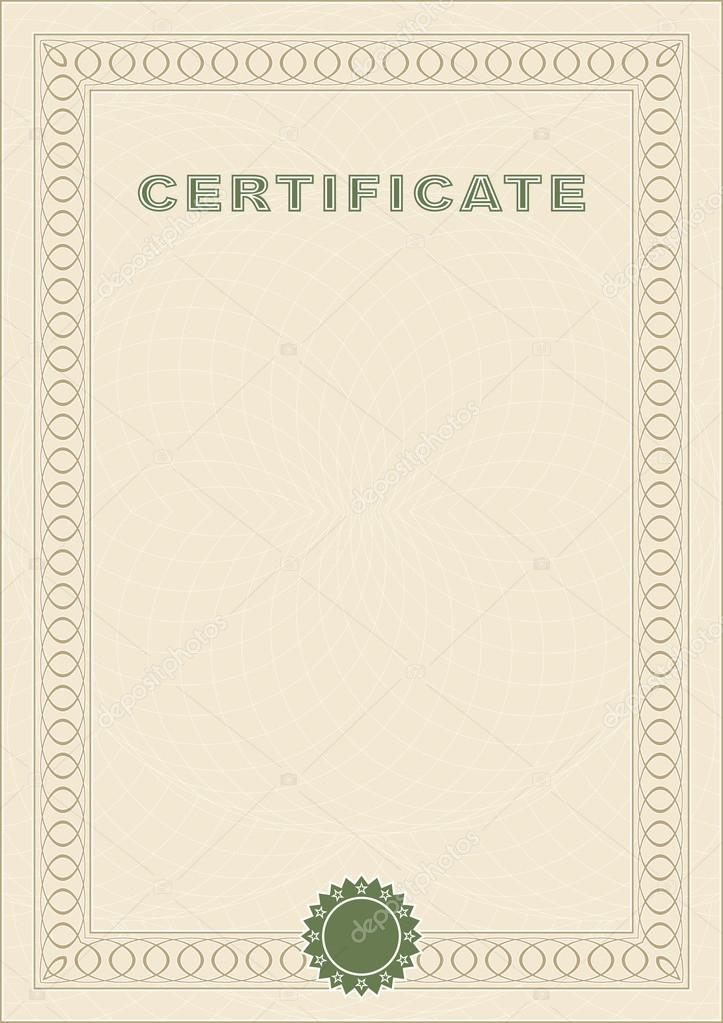 Certificate blank stock vector silantiy 62607911 form of the certificate form of beige color vector by silantiy yelopaper Choice Image