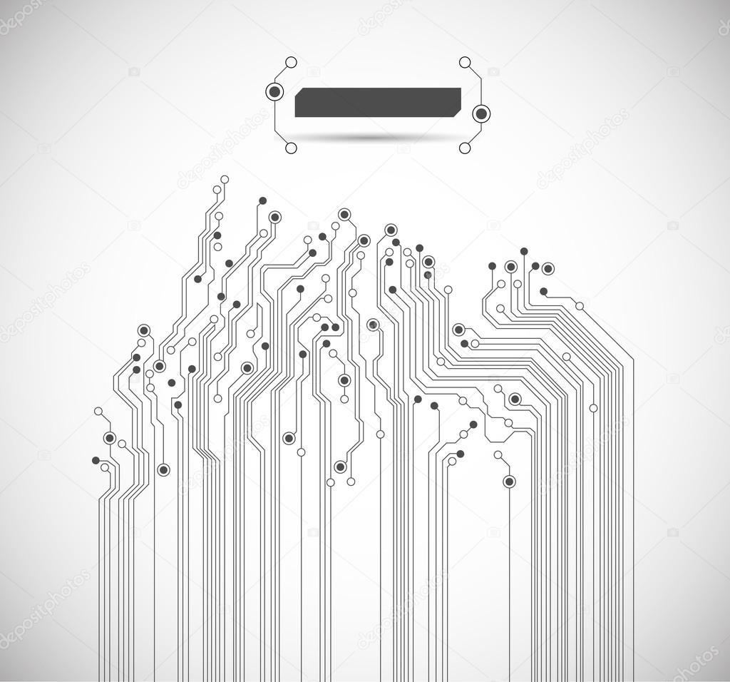 circuit imprimé abstrait - vector — Image vectorielle silvertiger ...