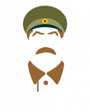 Vector portrait of Joseph Stalin