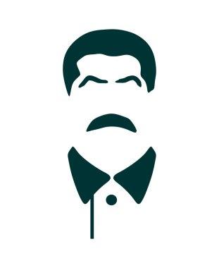 Vector portrait of Joseph Stalin