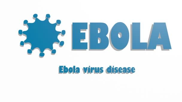 Infographic about deadly ebola virus. Illness symptoms, information, facts.