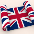Paper scroll  textured by Great Britain flag — стоковое фото #104332086