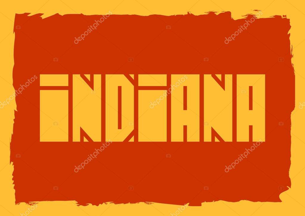 Nombre del estado de Indiana — Archivo Imágenes Vectoriales ...