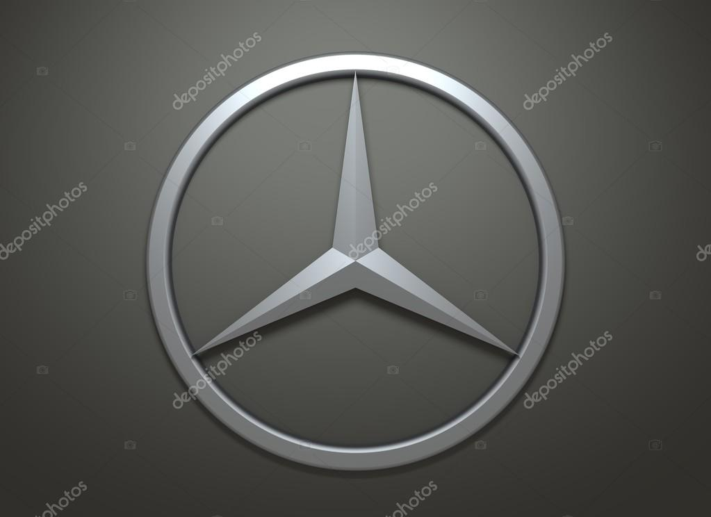 Mercedes Benz Emblem On Dark Grey Background Stock Editorial