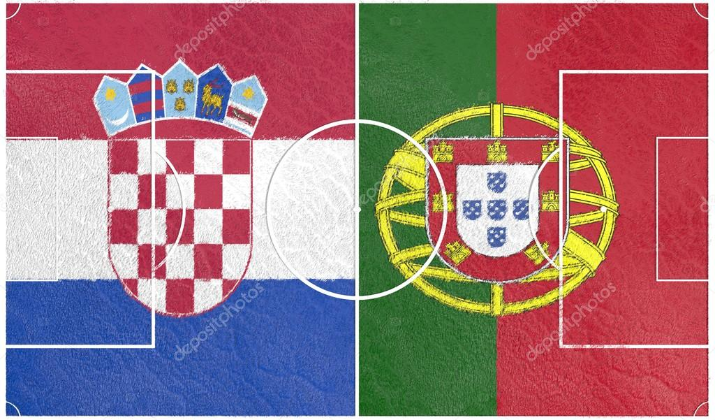f55b6b15db8 Croatia vs Portugal europe football championship 2016 — Stock Photo ...