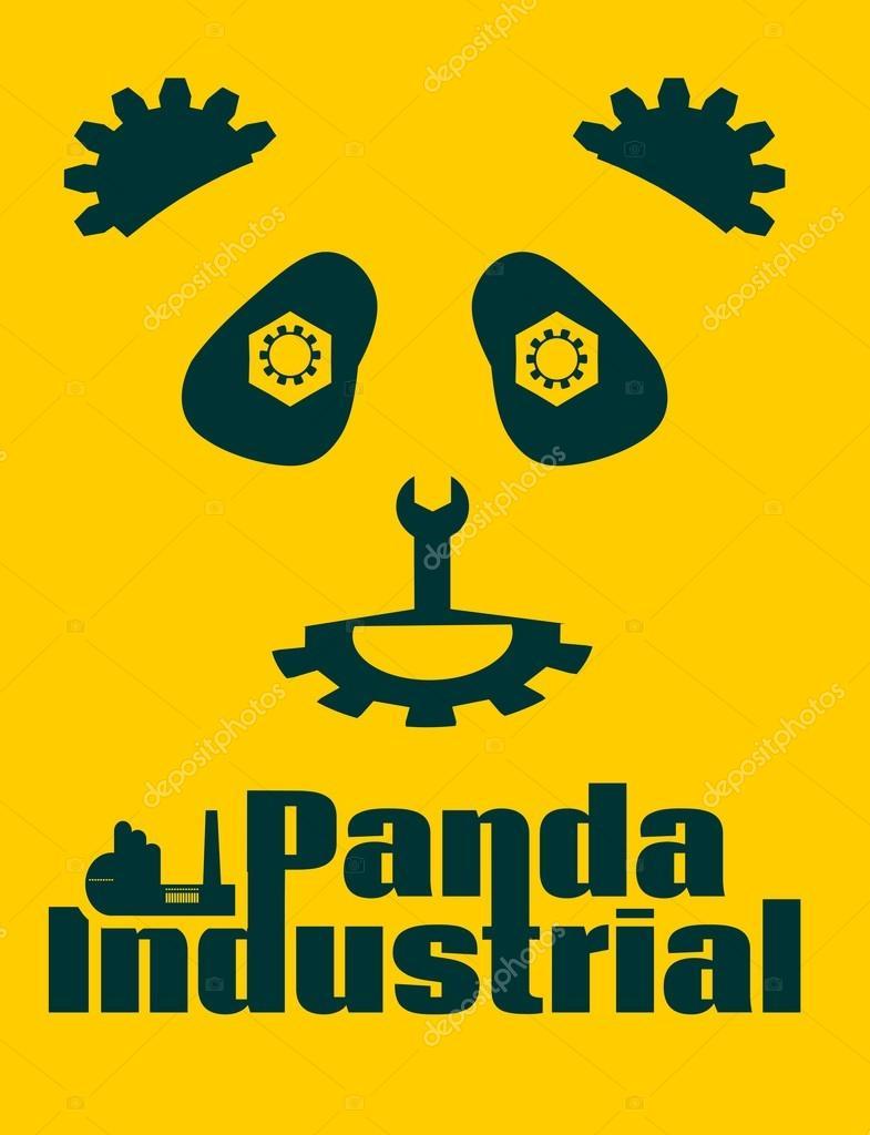 Simple Signe Un Panda Modele De Dessin Ou Modele Industriel