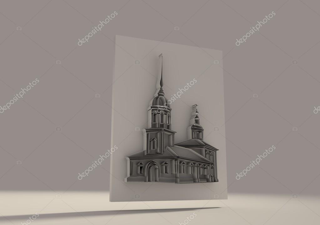 Russische orthodoxe Kirche 3D-Skizze — Stockfoto © JEGAS_RA #95664078
