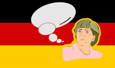 illustration of a portrait german chancellor angela merkel
