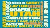 Fotografie Utah State-Städte-Liste