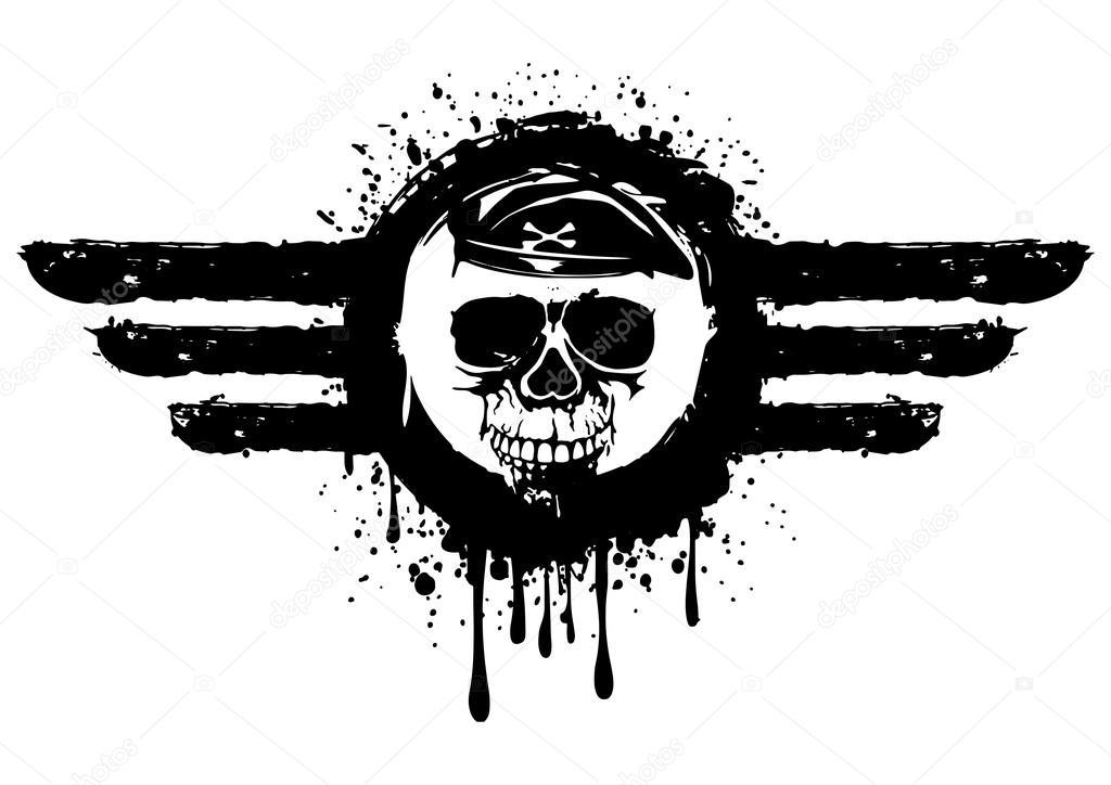 cráneo en el marco de la — Vector de stock © SS1001 #117758142