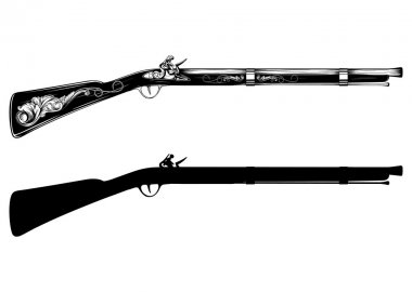 old flintlock rifle