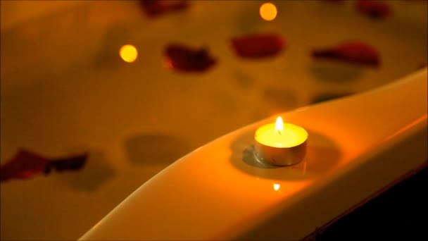 Spa accessories for treatments at the spa salon with candles