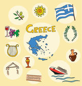 Fotografie The set of national profile of the greece cartoon state of the world isolated
