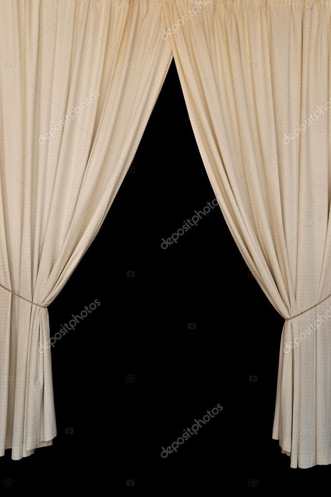 de elegante gordijnen open gordijnen stockfoto
