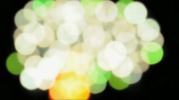 barevná světla noci rozostření