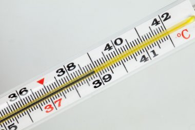 Thermometer with a temperature of 39 separately