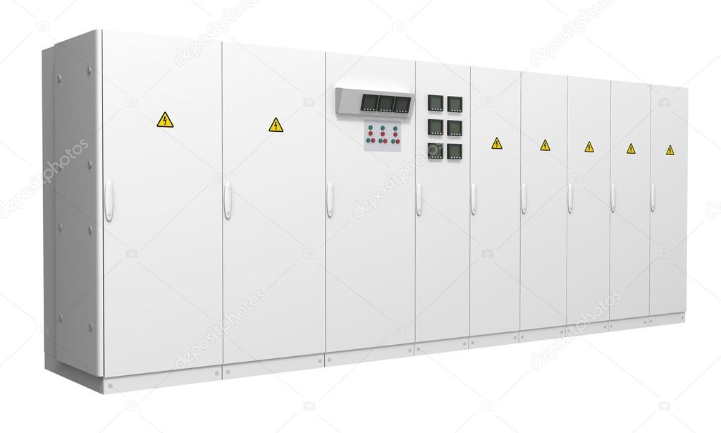 Switchboard isolated on white background