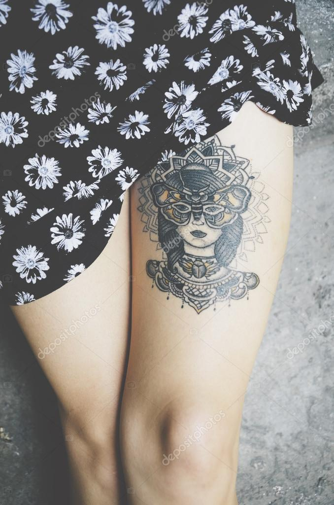 Fotos Descargar Tatuajes Para El Tatuaje En Pierna Mujer Foto