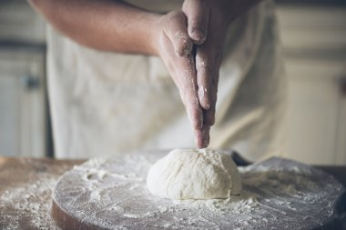 Baking bread closeup