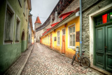 Old streets of European cities.