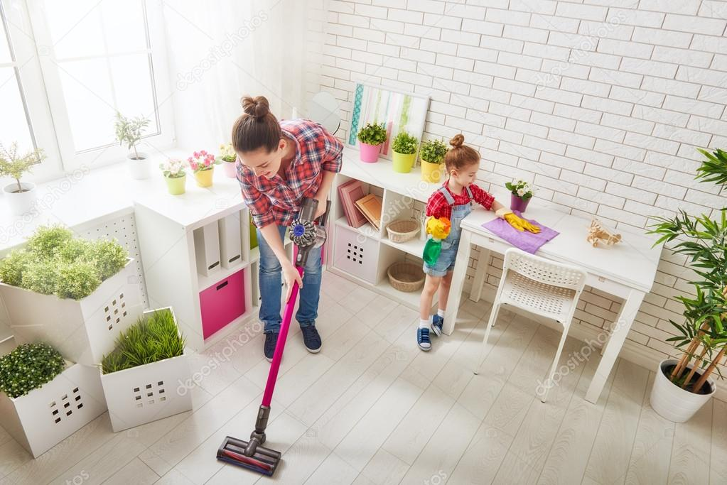 children cleaning their room - 943×531