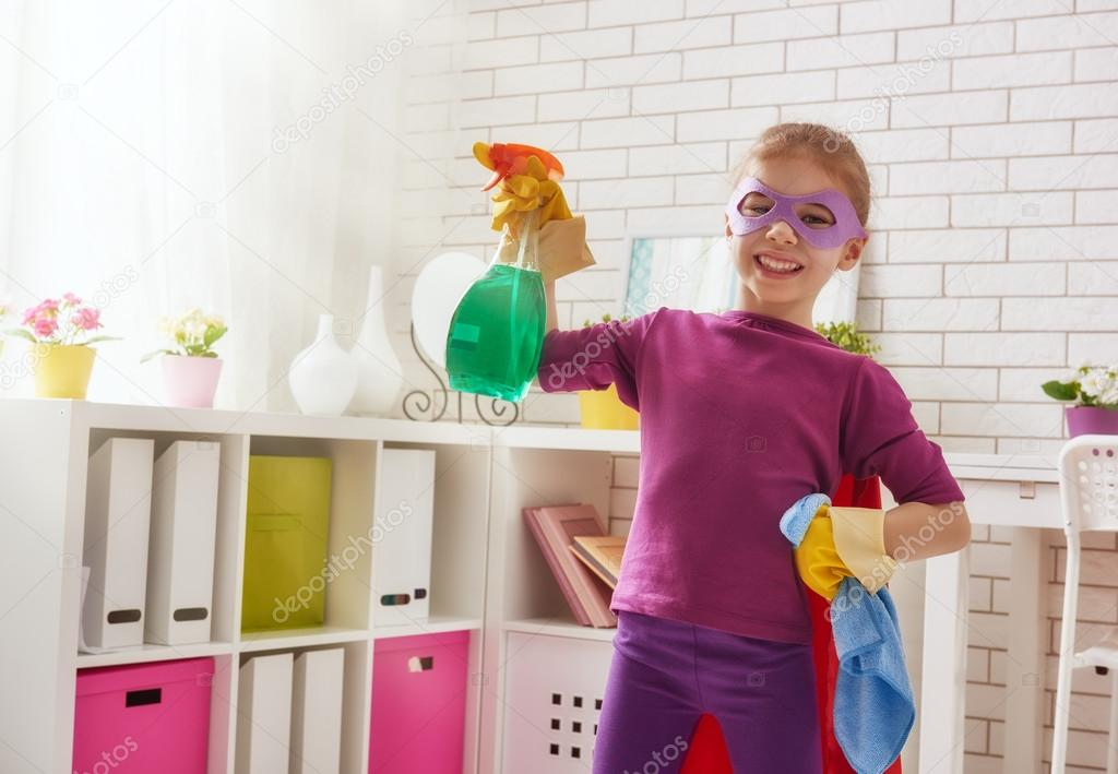 children cleaning their room - HD6000×4156