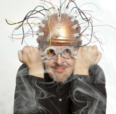 Inventor of a helmet for brain research