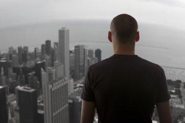 Men standing on the rooftop
