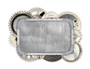 Vintage industrial mechanical isolated