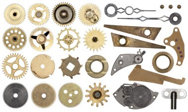 Set gear, cogwheels, isolated