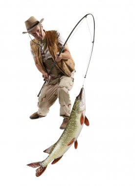 Fisherman with big fish - Pike