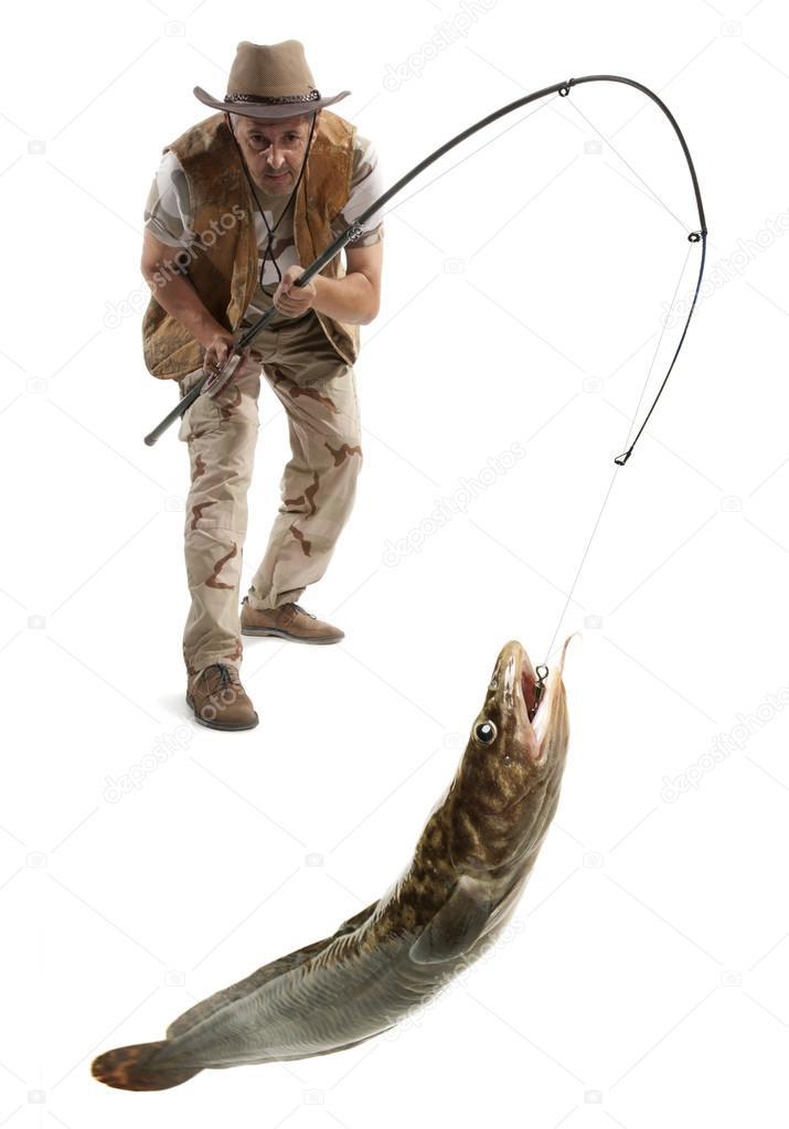 Pescador com o peixe grande stock photo andreyuu 82419850 for Big fish script