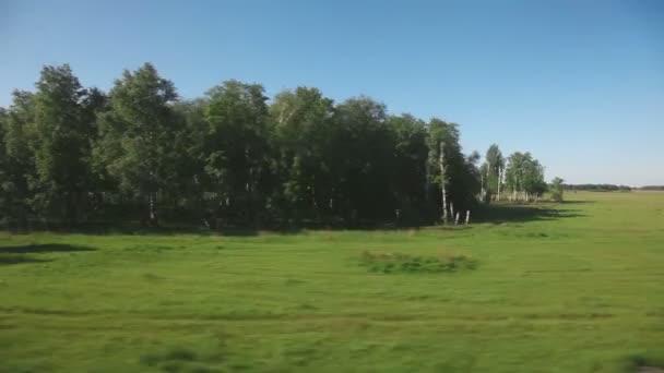 Szibériai táj - kilátás a vasúti