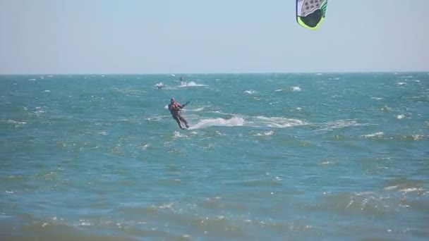 Kite surfer in ocean