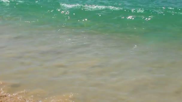 az óceán, a homokos strand hullám