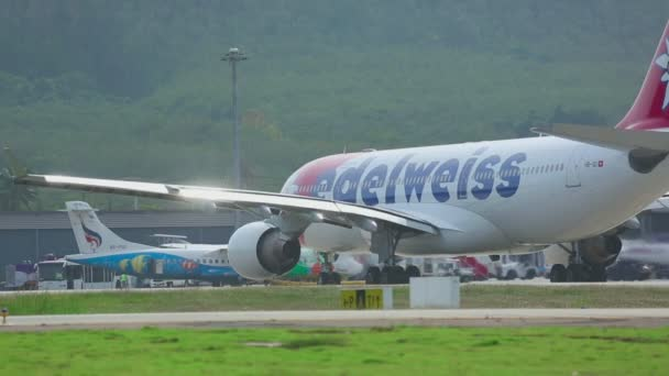 Edelweiss Airbus 330 taxiing