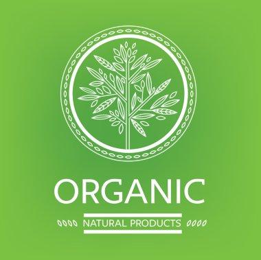 Vector design elements for organic natural logos stock vector