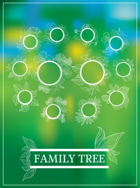 Vector family tree design with frames