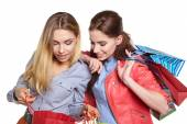 Fotografie Girls with shopping bags