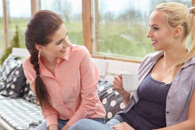 women friends talking