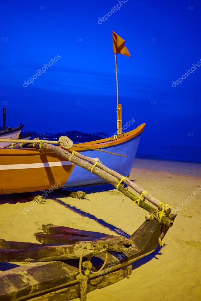 Traditional longtail boats