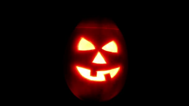 Halloween tök jack-o-lantern gyertya világít