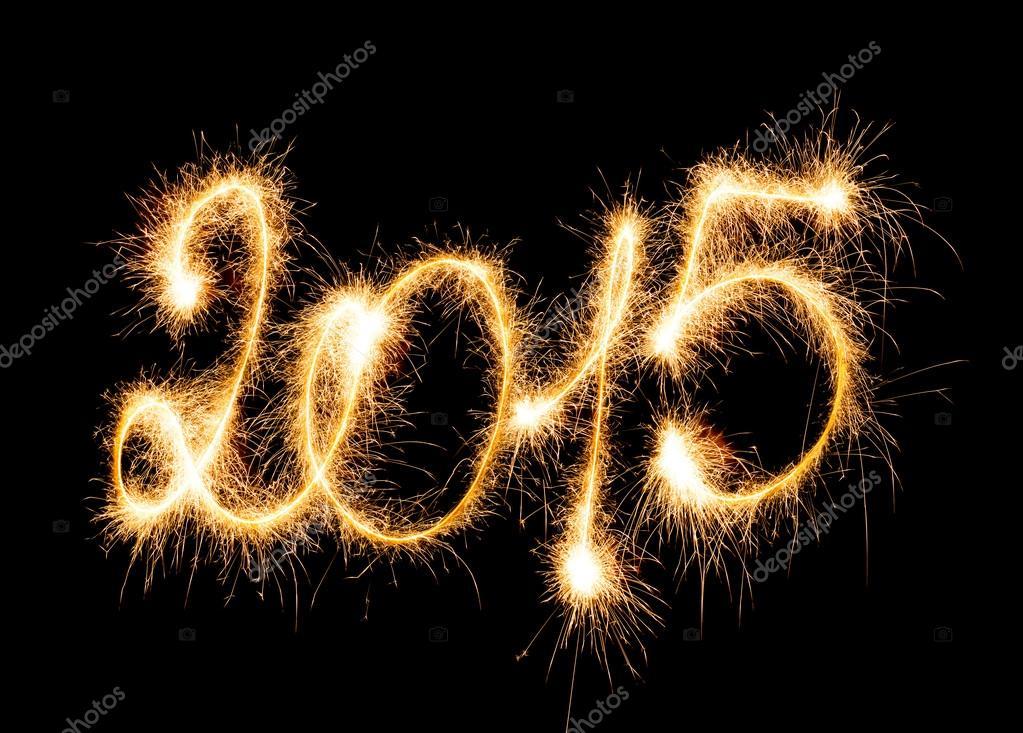 Frohes neues Jahr - 2015 mit Wunderkerzen — Stockfoto © vlad_star ...