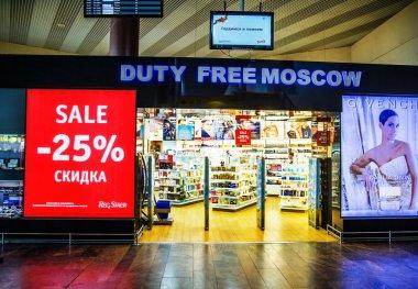 Duty free at the airport Sheremetyevo